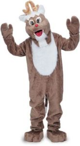 Christmas Rudolph Reindeer Economy Mascot Adult Costume