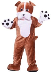 Crazy Bulldog Mascot Adult Fancy Dress Costume