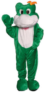 Economy Deluxe Green Frog Adult Mascot Costume