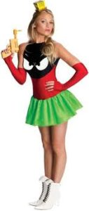 Sexy Marvin The Martian Adult Looney Tunes Fancy Dress Costume