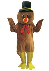 Thanksgiving Tom the Turkey Mascot Adult Costume