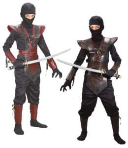 Unique Leather Ninja Fighter Child Halloween Costume