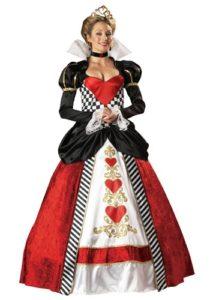 Stunning Queen Of Hearts Adult Delux Fancy Dress Costumes