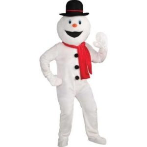 Snowman Economy Mascot Adult Fancy Dress Costume
