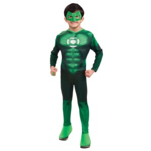 Fun Child Green Lantern Muscle Chest Halloween Costume