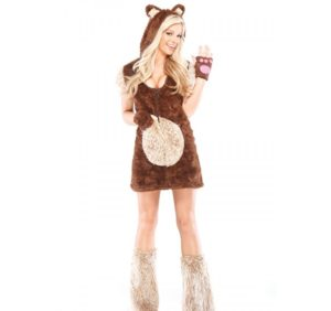 Sexy Teddy Bear Fancy Dress Costumes For Ladies