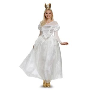 White Queen Fancy Dress Costumes For Ladies