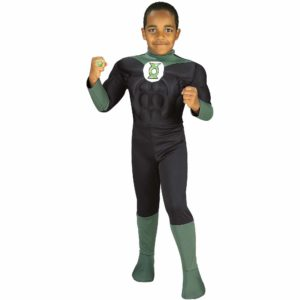 The Green Lantern Costume For Kids With Muscle Chestpiece