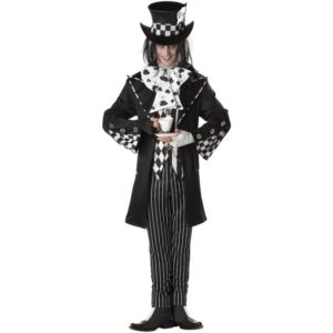 Crazy Dark Mad Hatter Fancy Dress Costume For Men