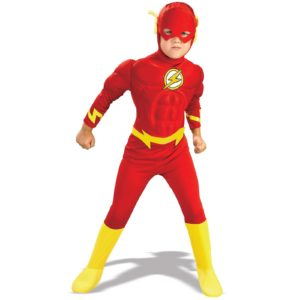 The Flash Fancy Dress Costume For kids With Muscle Chestpiece