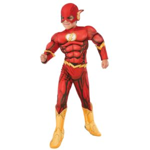 The Flash Child Fancy Dress Costume From The Justice League DC Comics