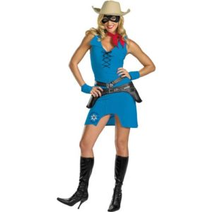 Sexy Lone Ranger Fancy Dress Costume For Ladies