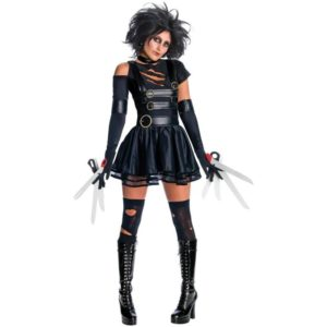 Ladies Miss Scissorhands Fancy Dress Costume From Tim Burtons Classic Movie