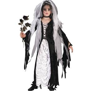 Scary Corpse Bride Child Halloween Fancy Dress Costume