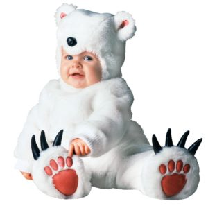 Cute Polar Bear Costumes For Children And Babies