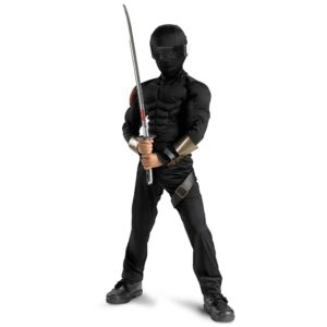 GI Joe Snake Eyes Child Fancy Dress Halloween Costume
