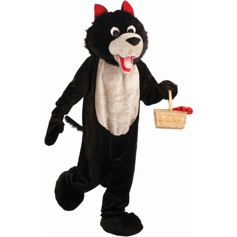 Low Cost Fun Black Wolf Mascot Costume